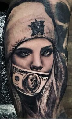 Realism tatoo By: Chicano Tattoos Sleeve, Best Sleeve Tattoos, Skull Tattoos, Body Art Tattoos, Tattoo Drawings, Girl Tattoos, Tattoos For Guys, Tattoos For Women, Boss Tattoo