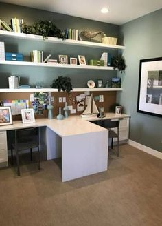 So make sure you design your home office exactly how you want from the perfect colors. See more ideas about Desk, Home office decor and Home Office Ideas. Mesa Home Office, Home Office Space, Home Office Desks, Desk Space, Basement Office, Home Office Colors, Home Office Paint Ideas, Loft Office, Basement Storage