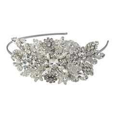 Halo and Co Betsey Bridal Headband - Bridal Jewellery - Crystal Bridal Accessories