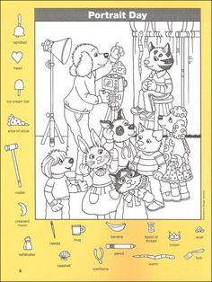 546 best pictures images on Art Books For Kids, Art Activities For Kids, Kindergarten Activities, Hidden Picture Games, Hidden Picture Puzzles, Hidden Object Games, Hidden Objects, Colouring Pages, Coloring Books