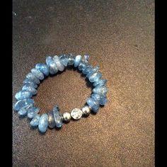 Selling this Blue Calcite Stretch Beaded Bracelet on Poshmark! My username is: sammiesmom. #shopmycloset #poshmark #fashion #shopping #style #forsale #Jewelry