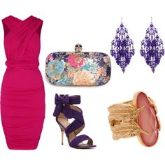 """Wedding Guest Attire $100 & Under"" by mystyletrends on Polyvore"