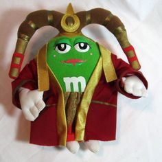 STAR WARS Chocolate Empire Green M&M Plush Queen Amidala Doll Toy