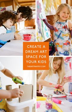 have you always wanted an art space in your home for your kids? this book will show you how!