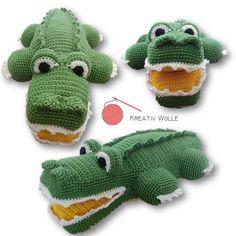 Amigurumi Krokodil - crocheted by Kreativ Wolle