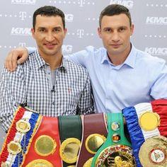 Brothers KLITCHKO, UKRAINE  KO Vitali Klitschko Wladimir Klitschko Brothers World Champs in ALL HEAVY WEIGHT BELTS!