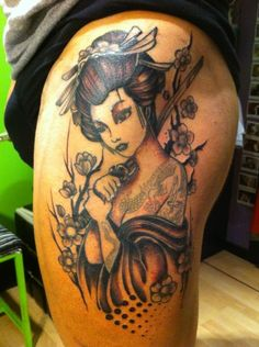 Geisha tattoo and placement!!