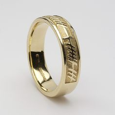"""Ogham Script meaning """"Love Forever"""" ... in white gold ... :)"""