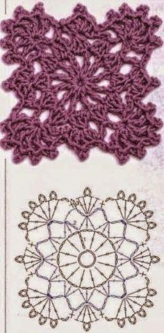 Transcendent Crochet a Solid Granny Square Ideas. Inconceivable Crochet a Solid Granny Square Ideas. Crochet Diy, Beau Crochet, Form Crochet, Crochet Blocks, Crochet Diagram, Crochet Chart, Crochet Squares, Crochet Motif, Irish Crochet