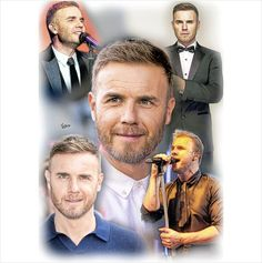 Gary Barlow Take That Unframed Pencil Drawing Print Ltd. Ed. 001 on eBid United Kingdom