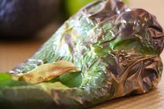 charred poblano peppers are the secret ingredient for Cold Avocado Soup with Chili-Lime Pepitas