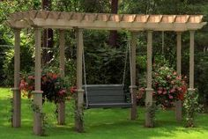 Landscaping With Large Rocks Ideas | If you have a large backyard, adding structures like this pergola with ...