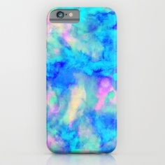 Electrify Ice Blue iPhone & iPod Case by Amy Sia - Society 6 Cool Cases, Cool Iphone Cases, Iphone 6 Plus Case, Cute Phone Cases, Cheap Phone Cases, Ipod 5, Mobile Covers, Coque Iphone, Iphone Phone