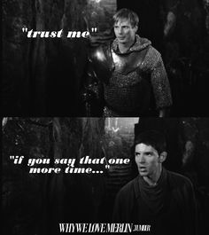 Why we love Merlin. Their faces in these pictures are perfect.