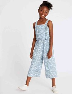 Shop this Pure Cotton Denim Jumpsuit Years) at Marks & Spencer. Girls Playsuit, Jumpsuit For Kids, Trendy Kids, Denim Jumpsuit, Tween Fashion, Playsuits, Girls Dresses, Stylish, Cotton