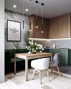 How to design your kitchen design in a subject area - This article will . How to design your kitchen design in a themed area – This article will perfect your kitchen lighting: Read Or Miss Out Interior Modern, Interior Design Kitchen, Modern Interior Design, Modern Interiors, Modern Furniture, Luxury Interior, Room Interior, Apartment Interior, Vintage Furniture