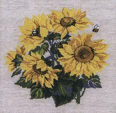 Sunflowers Cross Stitch Kit By Riolis