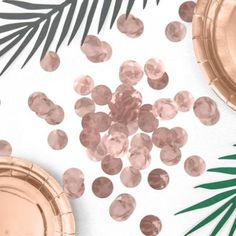 Rose Gold Foil Confetti Circles perfect for sprinkling on tables at parties or to use inside clear balloons. bag of Rose Gold Confetti circles. Each circle has a diameter. Table Confetti, Wedding Confetti, Gold Confetti, Baptism Party Decorations, Prom Decor, Birthday Roses, Gold Birthday, Rose Gold Wall Decor, Clear Balloons