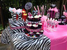 Zebra and pink Minnie party
