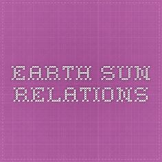 Earth-Sun Relations