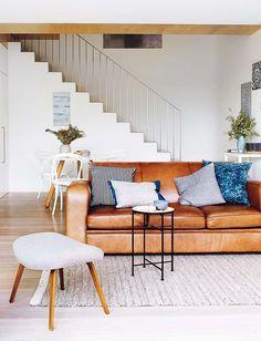 brown couch ♡ teaspoonheaven.com
