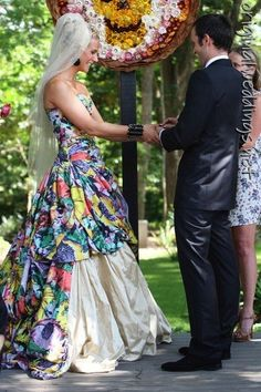 colorful bride gown