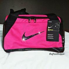 Swarovski Crystal Bling Nike Brasilia Gym Bag