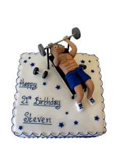 Image detail for -Weight Lifter Birthday Cake - CCCakes