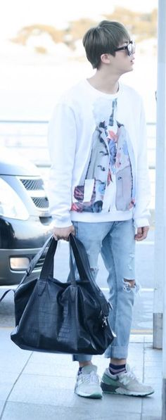 150510- BTS Jin (Kim Seokjin) @ Incheon Airport #bts #bangtanboys #bangtan #kpop #fashion #style #korean