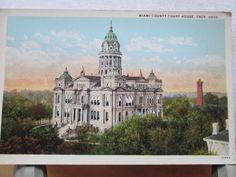 Vintage Postcard Miami County Court House Troy, Ohio | eBay