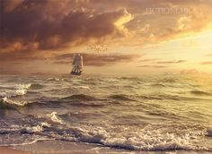 http://fictionchick.deviantart.com/art/Sunset-Sail-364495898