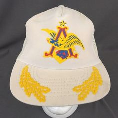 e4b1c0571a9 Details about Vintage Anheuser Busch Snapback Trucker Mesh Hat Embroidered  Logo Made in USA