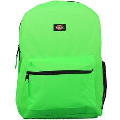 Women's Dickies Unisex Backpacks Neon (68 PEN) ❤ liked on Polyvore featuring bags, backpacks, green, day pack backpack, green backpack, neon backpacks, backpack laptop bag and fluorescent backpack