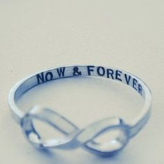 Cool idea for a wedding ring someday. I love infinity symbols.
