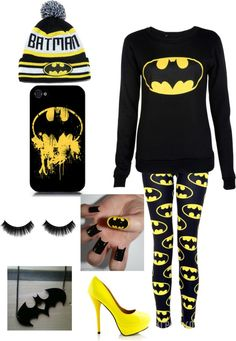 """""""Another batman outfit i love it!!"""" by america-valeria-cortez ❤ liked on Polyvore"""