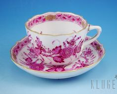 Antique Herend Cup and Saucer Dated 1912