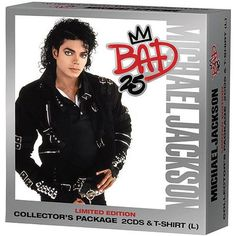 BAD 25 TH ANNIVERSARY EXCLUSIVE WALMART BOX SET WITH 2CD+T-SHIRT! ONLY USA EXCLUSIVITY. WE SELL IT WORLDWIDE, SO DON'T MISS THIS CHANCE! OTHER ITEMS IN OUR STORE HERE WWW.MJJCOLLECTORS.COM