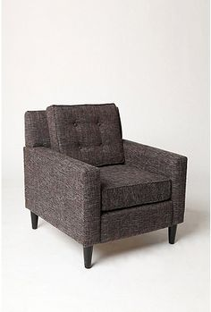 really love the shape of this chair and the tweed, but i think some chunky squared off wooden legs would look better!