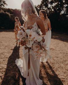 Boho Wedding, Floral Wedding, Wedding Flowers, Wedding Dresses, Wedding Stuff, Wedding Ideas, Modern Boho, Rose Buds, Unique Weddings