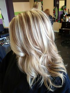 Pretty blonde with lowlights | Hair & Makeup | Pinterest
