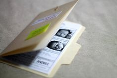Sample Baby Announcement Most Wanted FBI Mini File von haSupplies