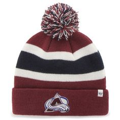'47 Brand Colorado Avalanche Burgundy Breakaway Knit Hat
