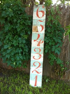 Vintage Style Wooden Growth Chart  Teal & by ErinDuranTheShop, $150.00