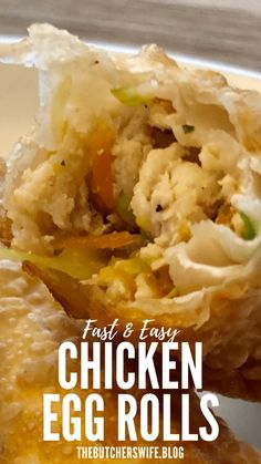 Easy Chicken Egg Rolls   The Butcher's Wife Egg Rolls Baked, Chicken Egg Rolls, Chicken Eggs, Appetizer Recipes, Keto Recipes, Cooking Recipes, Egg Roll Ingredients, Chicken Wontons, Chicken And Cabbage