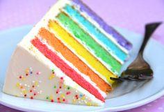 IMAGE : Gâteau arc en ciel