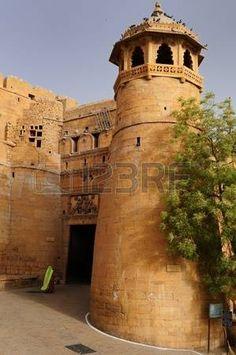 Beautifolu Fort In Jaisalmer City India Main Gate Rajasthan Photo