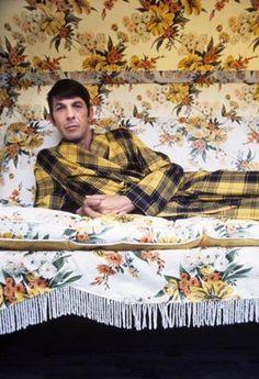 Leonard Nimoy rocks the yellow plaid. ~Kitschy Living