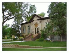 Andrew Carnegie Library in Sterling Colorado    This library has been turned into a comfortable home. According to the owner it still has the library book scent.