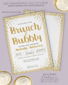 Bridal Brunch Invitation Brunch and bubbly by nataliesPARTYshop