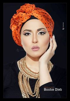 Model sally soliman from Egypt. Turban fashion in many looks http://www.justtrendygirls.com/turban-fashion-in-many-looks/ ,